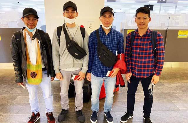 帰国するミャンマー技能実習生